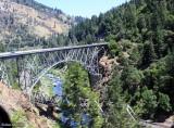 The bridges at Pulga, from the moving car