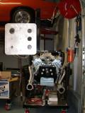 Motor on the 'break-in stand'