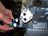 Adapter block mounted on motor 3