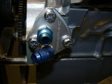 Adapter block mounted on motor 4