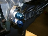 Adapter block mounted on motor 5