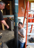 Installing an old post in the new steel base