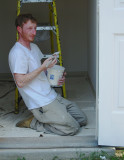 painting exterior trim on a hot day