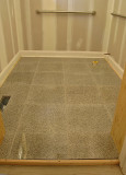 bathroom floor, rails