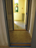 hall to basement, front hall to apartment