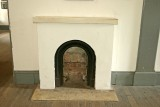 Fort Point architecture, second tier fireplace