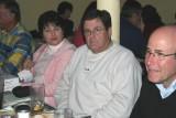 Lynn and Bob Pepper, Stanley Engelberg. Obviously, Pepper hasn't eaten yet.