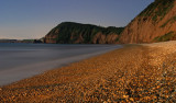 Sidmouth lit by moonlight (3min exposure)
