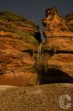 Moonlit water fall