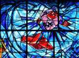 Stained glass window 3 Chagall Museum : detail