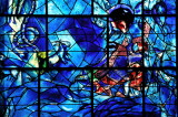 Stained glass window 4 Chagall Museum - detail