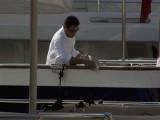 Polishing the yacht