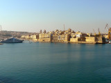 The grand harbour sitting serenely in the morning sun