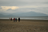 Morning walkers on Inch Strand