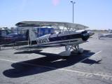 biplane at Hanger cafe N6247L