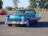 blue 1955 Chevrolet