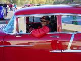 Guy and his red 55 Chevy