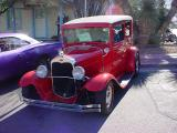 red Ford hotrod
