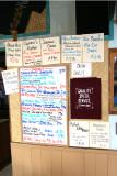 The menu at Hawaiian Style Cafe