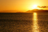 Diamond Head from Maunalua during winter sunset