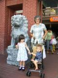 Fran with grandkids
