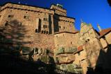 Medieval castles in Alsace.