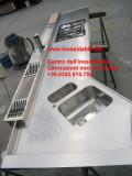 top cucina inox su misura sagomato canale attrezzato customized countertop