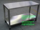 tavolo inox satinato robusto saldato su disegno_4_1 aerre sat inox