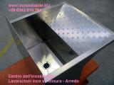 Lavatoio in acciaio inox per panni lavapanni su misura acciaio satinato