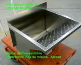 lavatoio su misura in acciaio inox vasca per panni
