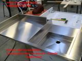 Top inox sagomato per lavaggio realizzato su misura Centro Inox