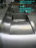 Inox sgocciolatoio su misura e vasca saldata