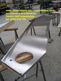 Piano cucina su misura in acciaio inox arredamento