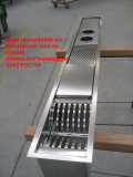 scolapiatti attrezzato da incasso in acciaio inox su misura