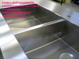Top acciaio inox arredo con vasche costruite su misura satinate