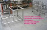 Strutture in tubolare acciaio inox satinato per mobile hifi