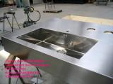 Arredamento inox piano cucina su disegno a richiesta Bellinzona Lugano