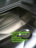 Particolare lavello inox su misura con ribasso per cucina