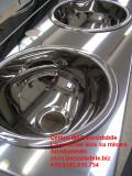 Lavello lavandino lavamani con vasche inox su misura