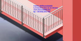 Parapetto terrazza protezione in acciaio inox satinato su misura