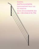Parapetto inox con cavi per protezione scala