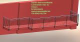 Balcone con protezione su misura in acciaio inossidabile Morbegno Sondrio Valtellina