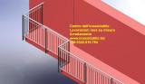 Balaustra protezione terrazza casa su disegno ben rifinita