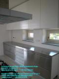Mobile cucina inox su misura del cliente con rivetimenti in acciaio inossidabile - Falegname Dego Giovanni.JPG