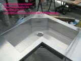 vasca sagomata in acciaio inox costruita su misura del cliente