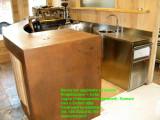 banco bar corten inox legno su misura mobili e piani