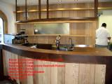 Mobile corten e legno frontale banco bar e bancalina