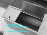 canale inox attrezzato su misura con chisura superiore