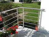 protezione inox satinata per terrazza design