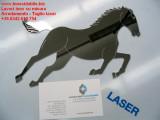 logo cavallo tagliato al laser in acciaio inox lucido a specchio  lavori su misura